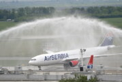 Iznajmljeni Erbas A330 svečano dočekan u Beogradu