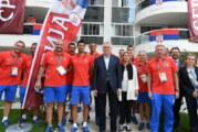 Doček olimpijaca ispred Skupštine Srbije