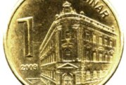 NBS brani dinar, kurs 123,43