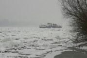 Razbijen led na Dunavu