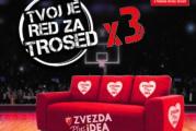 Osvojite gledanje utakmice Evrolige sa troseda kao na reklami i družite se sa košarkašima Zvezde
