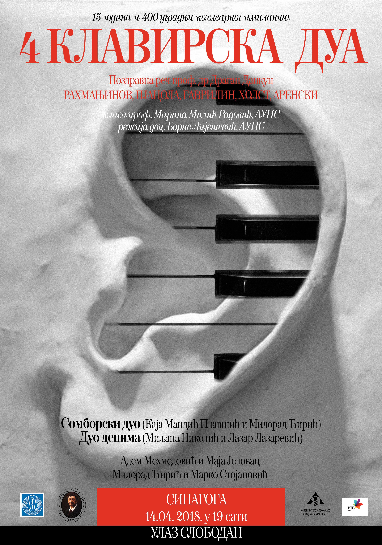 Koncert za 15 godina Kohlearnog implanta u nedelju Sinagogi