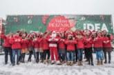 Uprkos zavejanim ulicama deca širom Srbije dočekala Idea karavan radosti