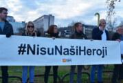 Protest Inicijative zbog postavljanja spomenika Tuđmanu