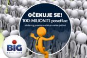 Odbrojavanje: BIG nagrađuje 100.000.000. posetioca!