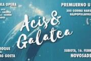 Premijera opere Acis i Galatea u subotu, 16. februara u Sinagogi