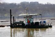 vađenju rečnog nanosa na ulazu u Dunavac