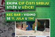 Kec bar u Užicu biće sređen u akciji CIF čisti Srbiju