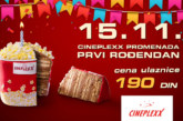 Prvi rođendan Cineplexx Promenade, svi filmovi po ceni od 190 dinara