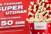Super utorak uz super cene od 150 dinara i repertoar bioskopa Cineplexx Promenada