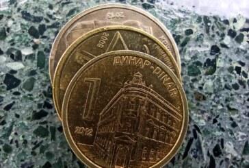 Srednji kurs 117,5685 dinara za evro