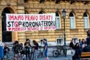 Podrška Đokoviću transparentom u centru Zagreba