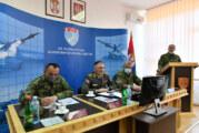 Načelnik Generalštaba u komandi 250. raketne brigade Vojske Srbije