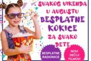 Besplatne kokice za decu svakog vikenda u avgustu u Areni Cineplex