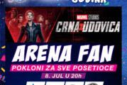 """Pokloni za sve posetioce i dugoočekivana """"Crna udovica"""" na Arena Fan večeri 8. jula"""