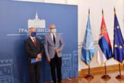 Vučević i šef misije OEBS-a Jan Bratu na sastanku u gradskoj kući